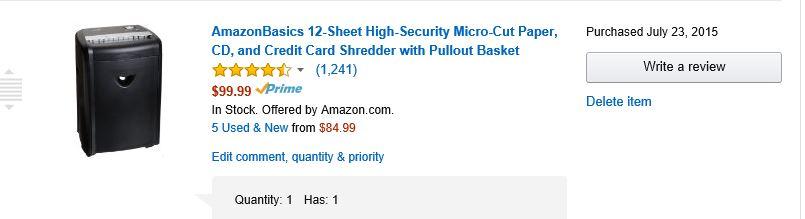 ShredderPurchased